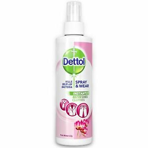 Dettol Antibacterial Spray and Wear Clothes Freshener Pink Water Lily 250ml