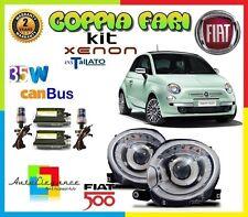 FIAT 500 DAL 2007- FARI ANTERIORI + KIT XENON LED CANBUS GIA INSTALLATO H7