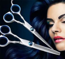 """Professional Barber Hairdressing 6"""" Cutting & Thinning Scissors - Two Piece Set"""