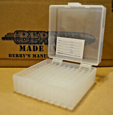 .300 Blackout / .223 / 556 ammo boxes 100 rnd storage (CLEAR COLOR) BERRY MFG