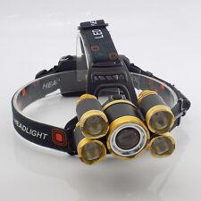 5 led Head flashlight super bright fishing hunting led headlamp head light torch