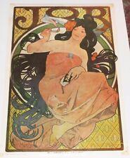 """Mucha JOB 1970's 20x29"""" """"advertising art Poster"""