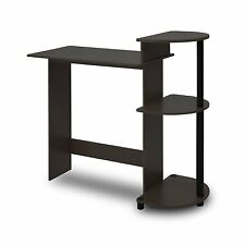 Furinno Compact Computer Desk In Espresso-Black Finish 11181Ex/Bk New