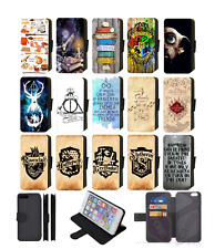 HARRY POTTER HOGWARTS Wallet Flip Phone Case iPhone 4 5 6 7 8 Plus X comp