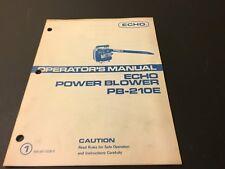 Echo Power Blower PB-210E Operator's Manual