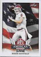 2018 Leaf Draft Football All American Insert Singles (Pick Your Cards)