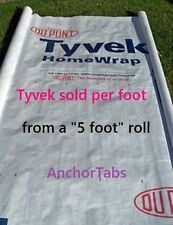 5' Tyvek Homewrap Ground Cover Sheet Fabric Tent Tarp Footprint Kite Bag + Loops