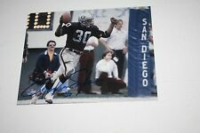 OAKLAND RAIDERS MARK VAN EEGHEN #30 SIGNED 8X10 PHOTO SUPER BOWL XI XV CHAMPS!