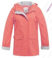 Womens Rain Mac Waterproof Raincoat Ladies Jacket Size 8 10 12 14 16 18 Salmon