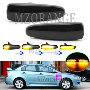 LED Dynamic Side Marker Light Repeater For Mitsubishi ASX Mirage Outlander Sport