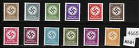 MNH large WWII emblem stamp set / 1934-1942 Issues / Third Reich / WWII Germany