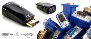 Convertisseur Adaptateur 1080P HDMI vers VGA Sortie Audio Séparée + Câble Jack