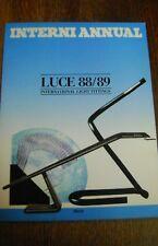 INTERNI ANNUAL LUCE 88/89 LAMPES LIGHT DESIGN ITALIEN  N1741/3