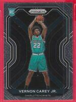 2020-21 Panini Prizm Vernon Carey Jr. Rookie RC #269 Charlotte Hornets