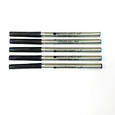 Lot of 5 pcs Montblanc Broad Gel Refill by Monteverde Mint 4 Blue and 1 Black