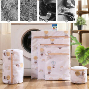 Zipped Wash Bag Net Laundry Washing Mesh Lingerie Underwear Bra Clothes So HL