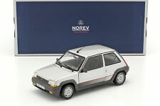 NOREV COLLECTORS 1:18 RENAULT SUPERCINQ GT TURBO 1985 SILVER ART. 185209