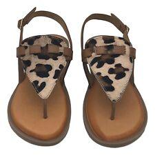 Women Sandals Slip On Ladies Summer Slipper Flip Flop Shoes Flat Leopard Size3-8