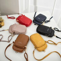 Ladies Leather Messenger Cross Body Shoulder Bag Women Phone Purse+1 free wallet