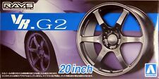 "Aoshima 1/24 Ray's Volk Racing G2 20"" Wheel Rims & Tire Set for Models 5517 (83)"