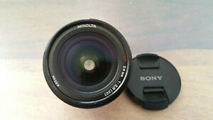 Minolta Weitwinkel AF 24mm 1:2.8 Objektiv / Sony A-Mount TOP