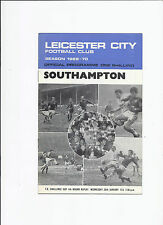 Leicester City v Southampton 28 January 1970 FA Cup 4th Round Replay