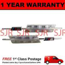 2X FOR BMW 5 SERIES E60 E61 2003-2010 CLEAR/AMBER WHITE LED SIDE REPEATER LAMPS