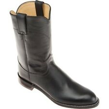 NEW IN BOX!!! Justin Ropers Cowboy Boots Womens Black Kipskin Leather 8 A narrow