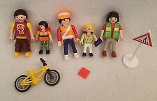 PLAYMOBIL 4328 School Crossing Guard Children Moms Bikes Signs Backpacks Book
