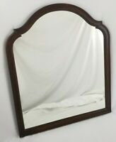 Vintage Walnut Wood Framed Wall Mirror Victorian Federal  24""