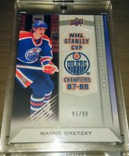2013-14 Upper Deck Edmonton Oilers Wayne Gretzky Championship Banners 85/99