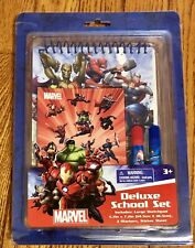 MARVEL comics Deluxe School Set NEW IN PACKAGE, Sketch Pad, Markers, Stickers