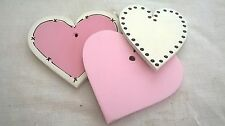 Handmade Wooden individual hearts/stars to add to existing plaque