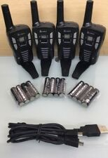 "(4) COBRA 22 Ch FRS/GMRS Walkie Talkie 2-Way Radios with ""Y"" split cable (A3)"