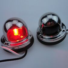 New Great A Pair Bow Navigation Light For Boats -Stainless Housing Red and Green