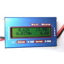 Medidor de carga y consumos 0v a 60v 12v Amperimetro Voltimetro Watt Meter Solar