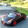 Bugatti V2  Model Cars 1:18 Toys Open two doors Collection Black Alloy Diecast