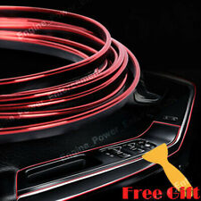 16 feet Car Interior Door Gap Edge Line Insert Molding Trim Strip Auto Decor Red
