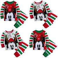 Disney Store Mickey or Minnie Mouse Holiday PJ Pals Set Baby Christmas Pajamas