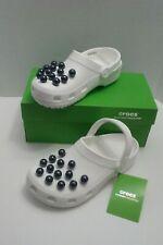 Crocs Women's Crocband Timeless Clash Pearls Clog - Size M 6 / W 8 White & Black