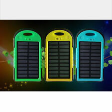 Support 5000mAh Waterproof Solar Power Bank Charger for iphone Android Phone