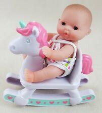 "Berenguer Lots To Love Babies 5"" Tall Blue Eyes Rocking Horse Unicorn"