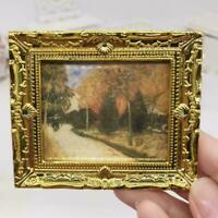 Mini Oil Painting Scenery Miniature DIY 1:12 Miniature Dollhouse Decor Y8X0 L4I6