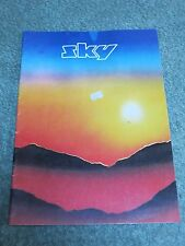 SKY 1980 UK Tour Programme with CONCERT TICKET!