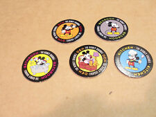 POGS MICKEY MOUSE DISNEY CHANNEL C/S of 5