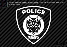 (2x) Police Decepticon Barricade Shield Sticker Die Cut Decal Self Adhesive Viny