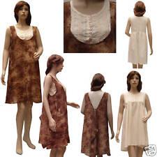 Robe marron motifs roses + Fond de robe BEIGE T 38/40