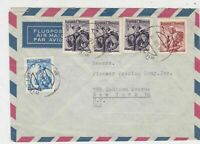 Austria  1957 Airmail to USA  Multiple Women Stamps Cover Ref 23403