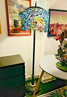 Grand Peacock, Tiffany Style Floor Lamp. Museum Quality. Rare. HTF