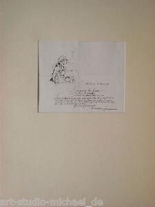 """Künstler/Atelierszene """"Dieter Weinmann"""" Geburtstagskarte für Gurlitt, 1963"""